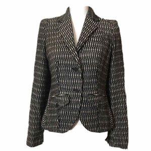 RACHEL ROY Black White Tweed Blazer Jacket 6